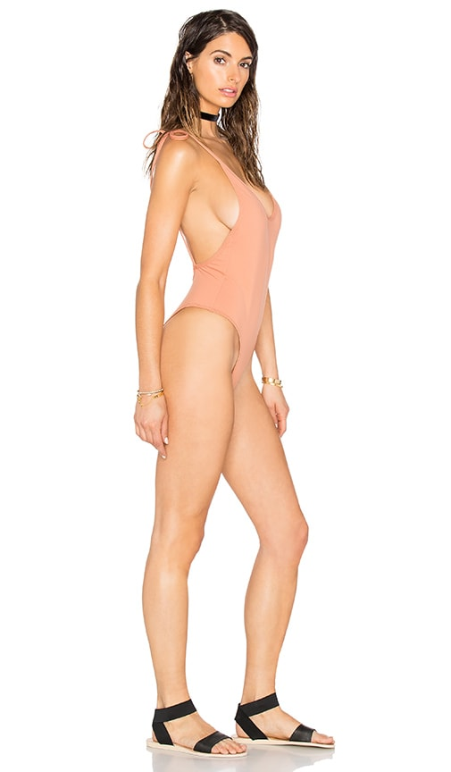 MINIMALE ANIMALE The Burning Love One Piece in Tan