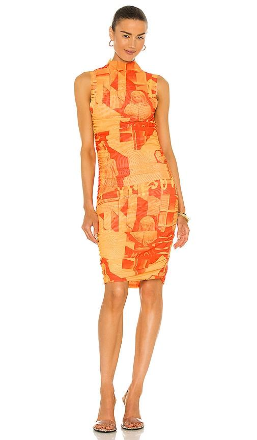 Miaou Sofia Dress In Stone Orange