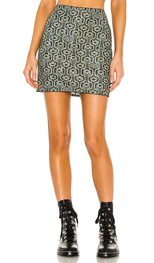 Miaou Mini Moni Skirt in Groovy Print