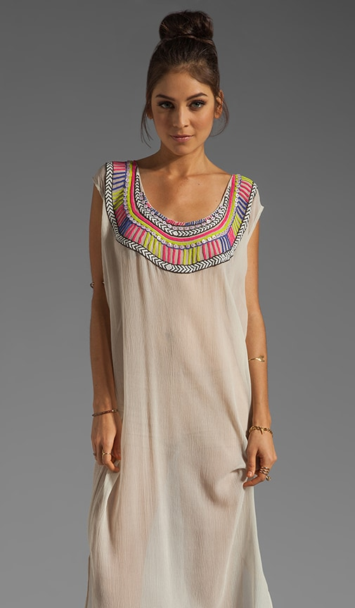 Beaded Chiffon Dashiki Maxi Dress