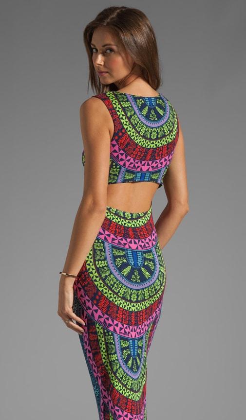 Printed Slit Column Dress