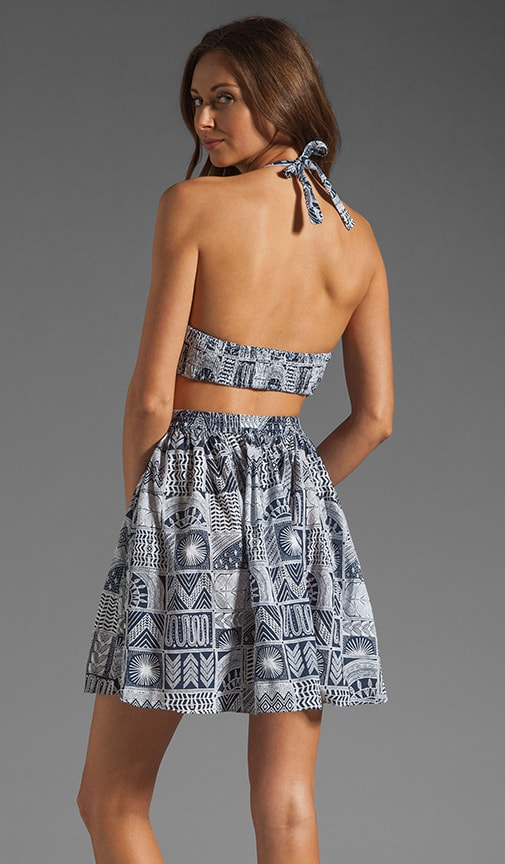 Printed Cutout Day Dress