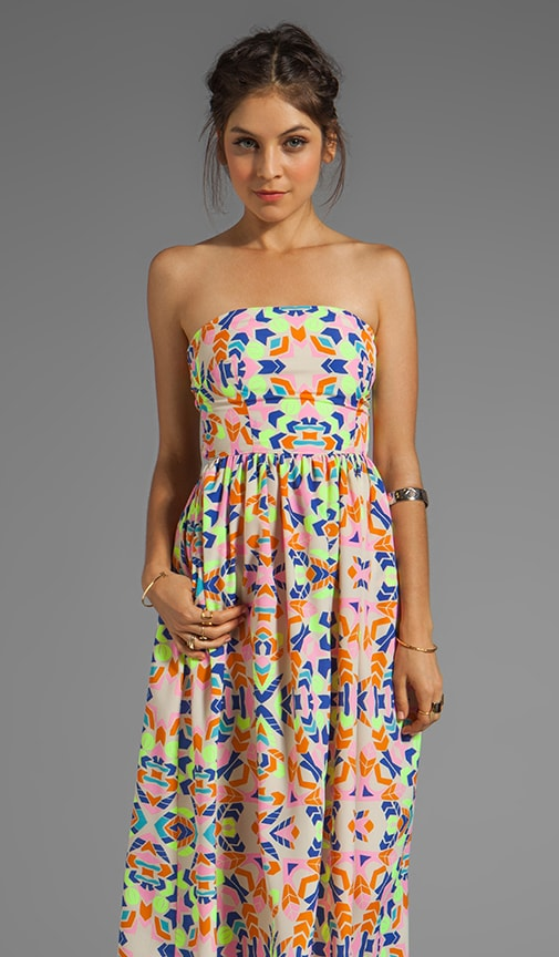 Printed Strapless Sun Dress