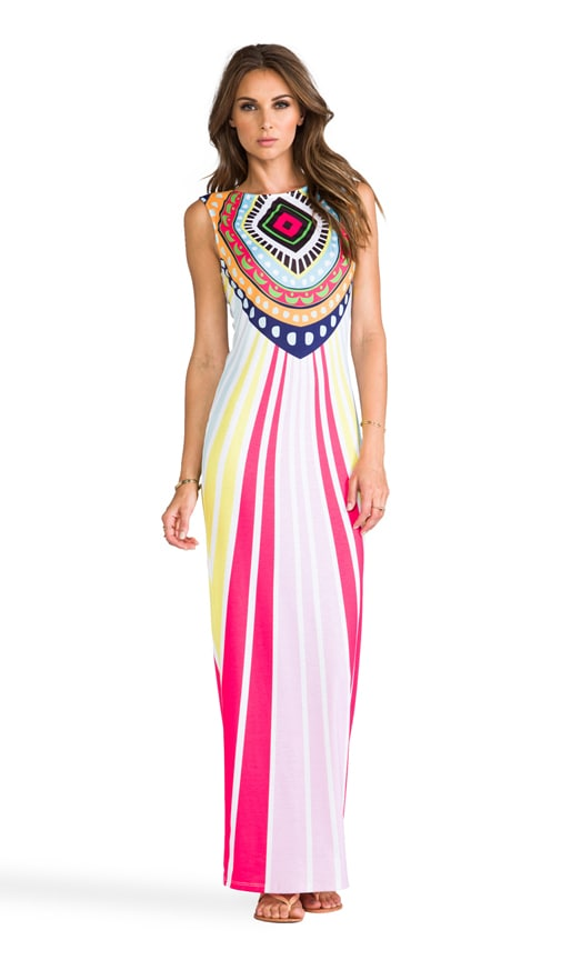 Jersey Fitted Maxi Dress