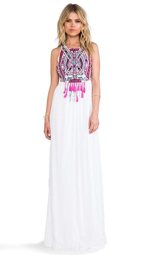 Mirror Embroidery Maxi Dress
