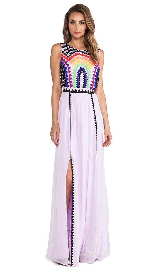 Rainbow Beaded Backless Gown