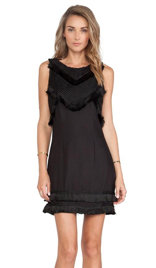 Mara Hoffman Open Back Mini Dress in Black