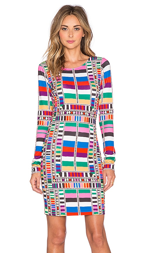Mara Hoffman Fitted Dress in Riser Rainbow