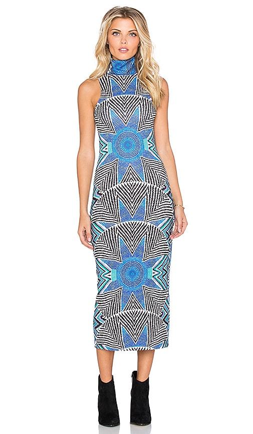 Mara Hoffman Turtleneck Dress in Star Basket Blue