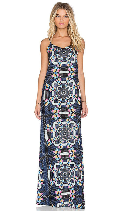Mara Hoffman Tank Maxi Dress in Tesselate Navy