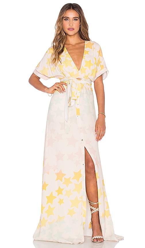 Mara Hoffman Tie Front Dress in Pink