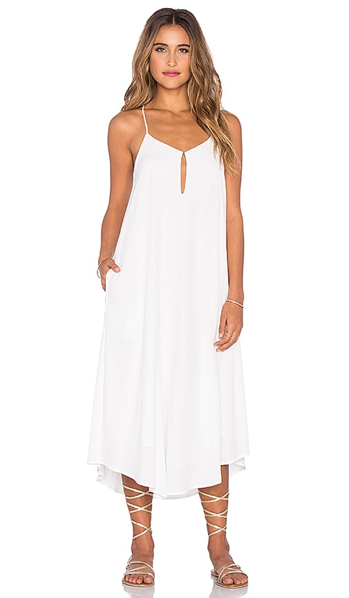 Mara Hoffman Keyhole Midi Dress in White
