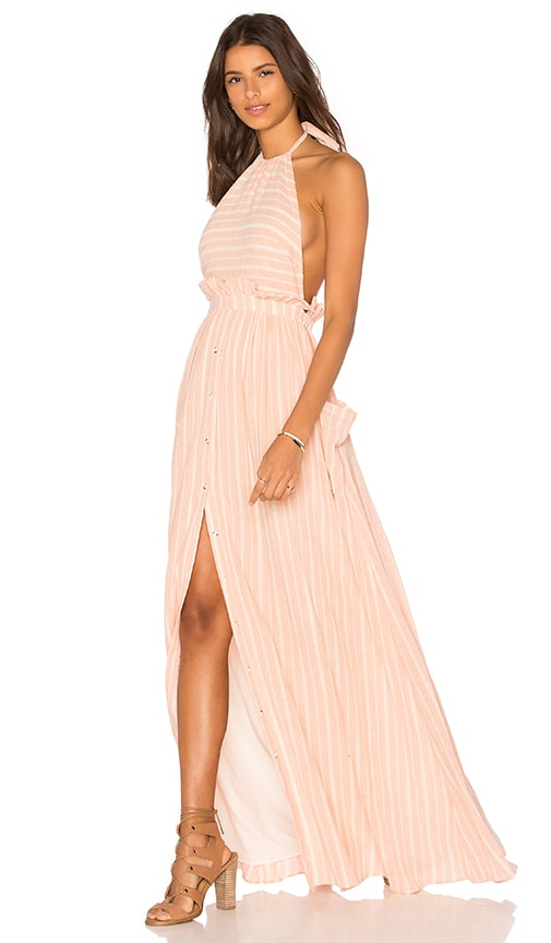 Mara Hoffman Pocket Halter Dress in Pink
