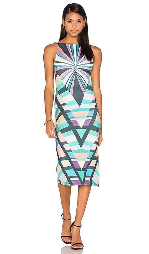 Mara Hoffman Prism V-Back Midi Dress in Teal