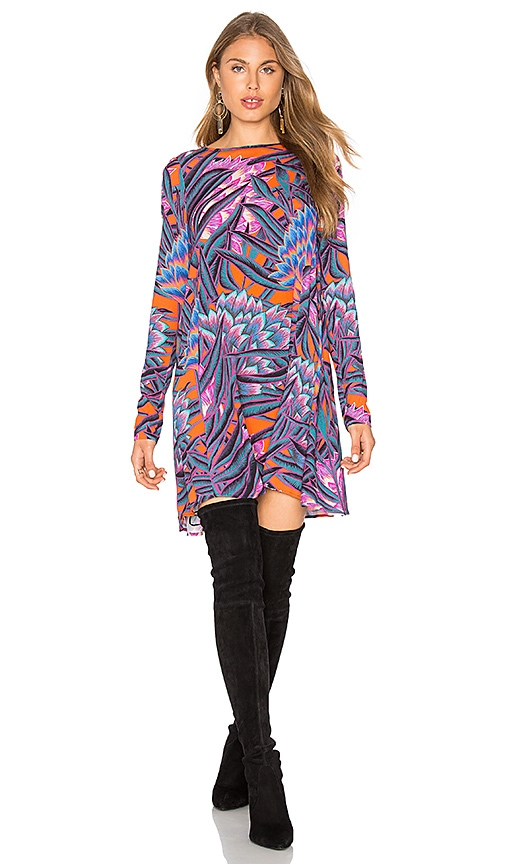 Mara Hoffman Herbarium Long Sleeve Swing Dress in Purple