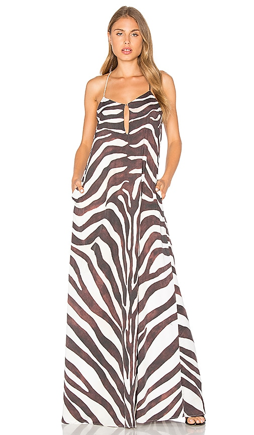 Mara Hoffman Zebra Maxi Dress in Black & White