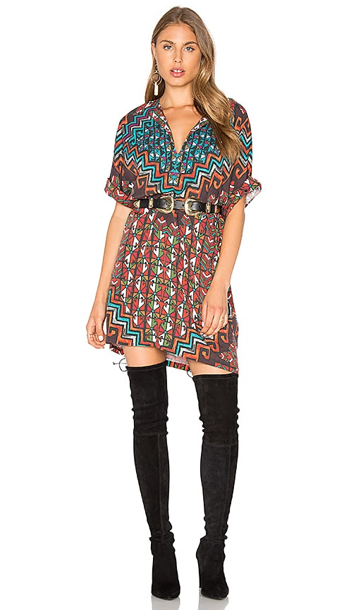 Mara Hoffman Bolnisi Rug Tunic Dress in Orange