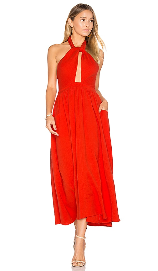 Mara Hoffman Knot Front Dress in Orange