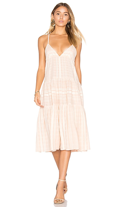 Mara Hoffman Better Cotton Tier Dress in Pink