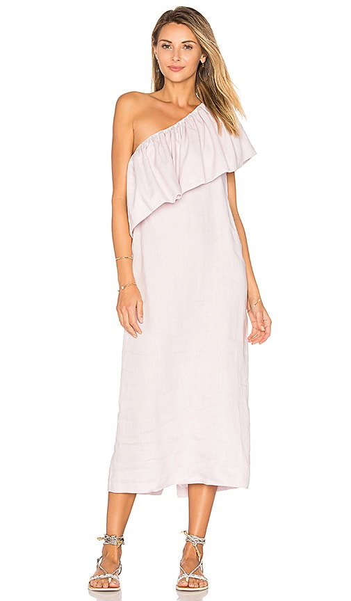 Mara Hoffman One Shoulder Midi Dress in Lavender