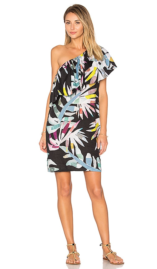 Mara Hoffman One Shoulder Mini Dress in Black