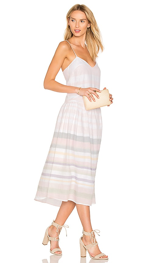 Mara Hoffman Drop Waist Midi Dress in Pink