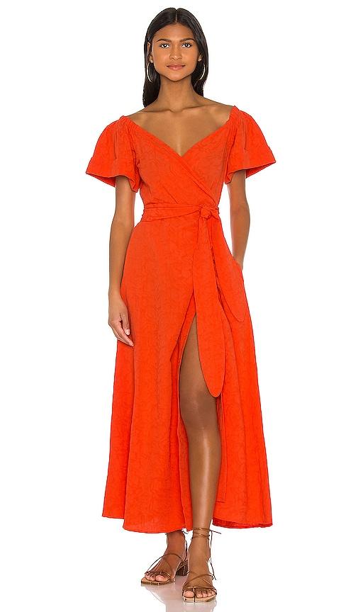 Mara Hoffman Adelina Dress in Orange