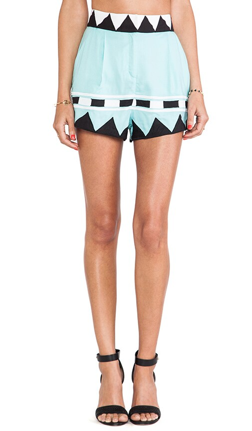 Applique High Waisted Shorts