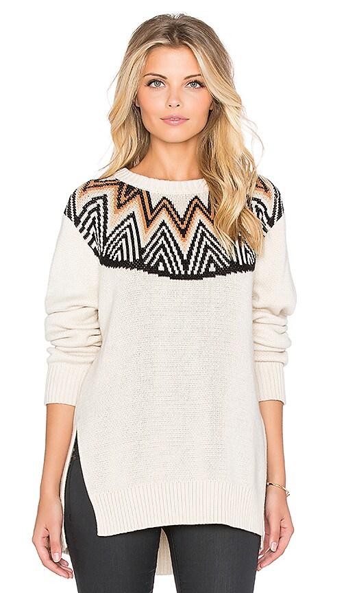Mara Hoffman Fairisle Pullover in Cream