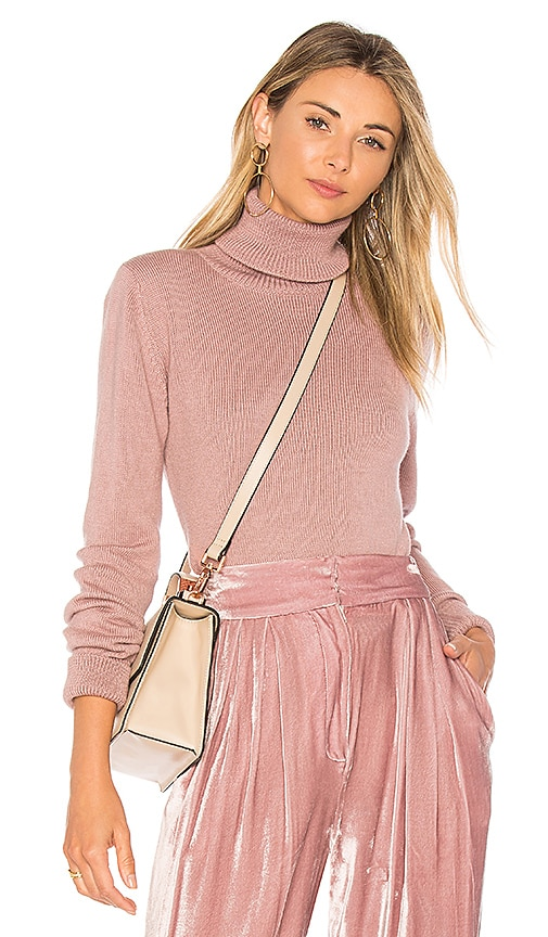 Mara Hoffman Leila Turtleneck Sweater in Mauve
