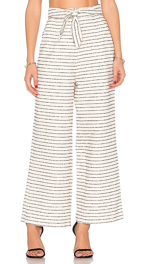 Mara Hoffman Cotton Tie Front Pant in Cream