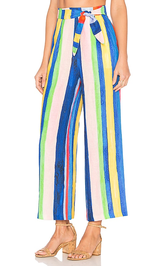 Mara Hoffman Tie Front Pant in Blue