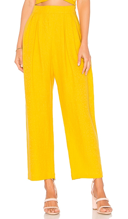 Wholesale Price Find Great Online Audre Pant in Yellow Mara Hoffman The Best Store To Get ksIYnx