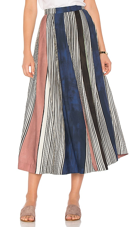 Mara Hoffman Helen Midi Skirt in Navy