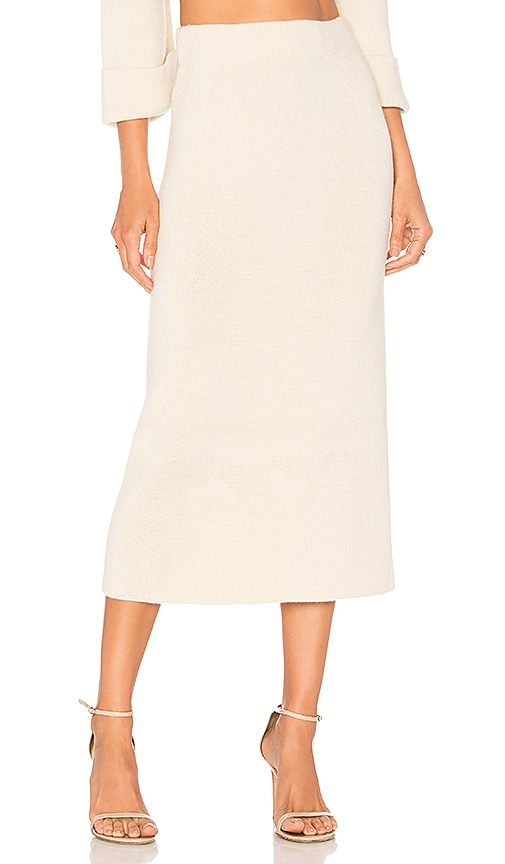 Mara Hoffman Susan Midi Skirt in Cream