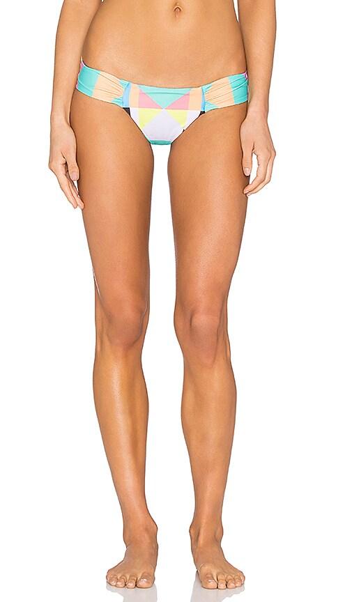 Mara Hoffman Side Ruched Bikini Bottom in Diamond Aqua