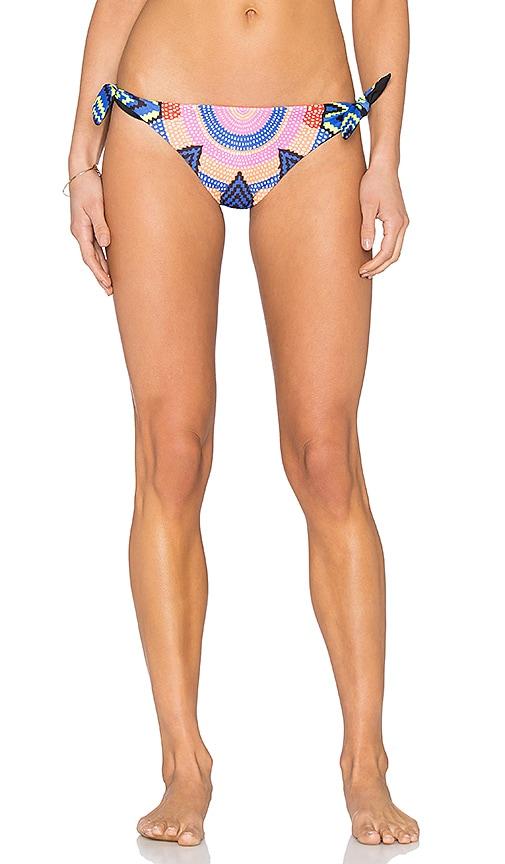 Mara Hoffman Tie Side Brazilian Bikini Bottom in Navy