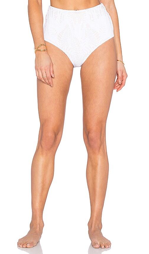 Mara Hoffman Bikini Bottom in Floral Jacquard White
