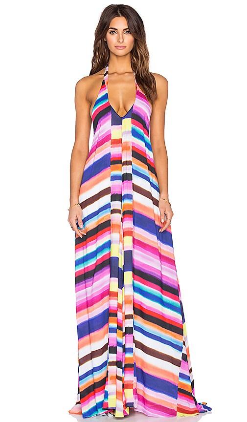 Mara Hoffman Solstice Maxi Dress in Bubble Gum