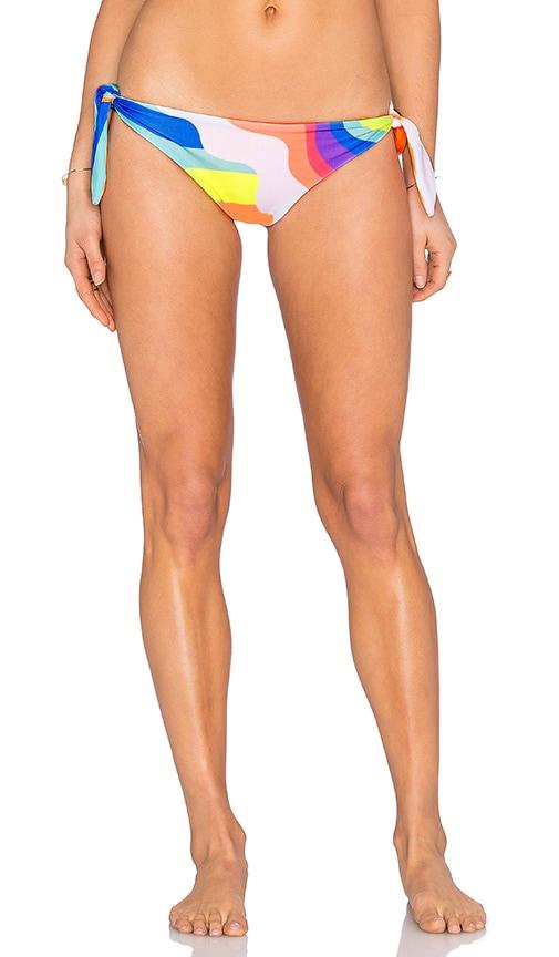 Mara Hoffman Tie Side Brazillian Bikini Bottom in Orange