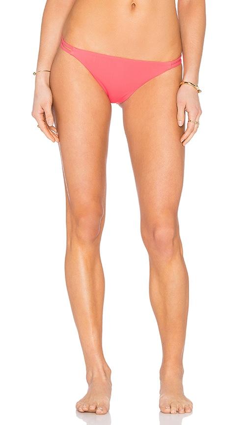 Mara Hoffman Side Strap Bikini Bottom in Coral
