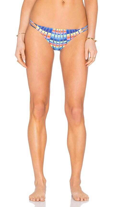 Mara Hoffman Side Strap Bikini Bottom in Blue