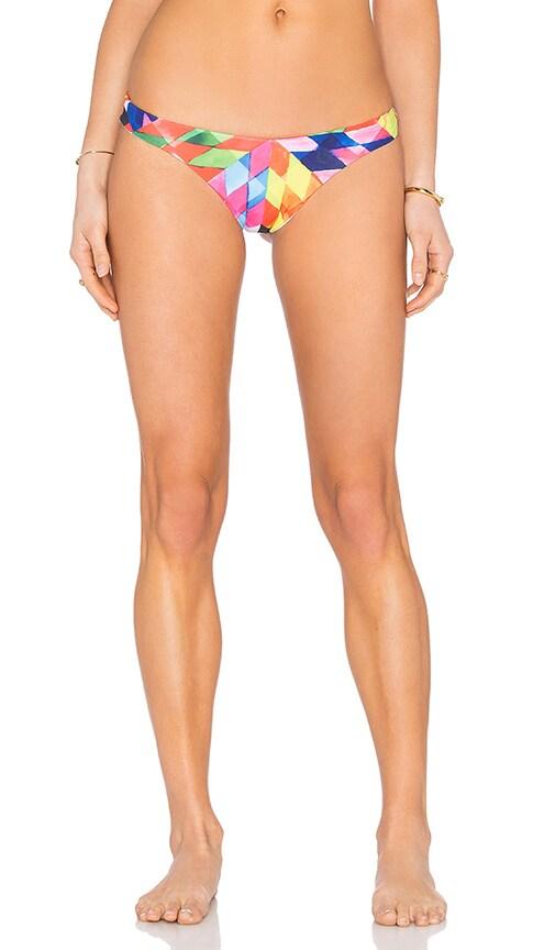 Mara Hoffman Low Rise Bikini Bottom in Blue