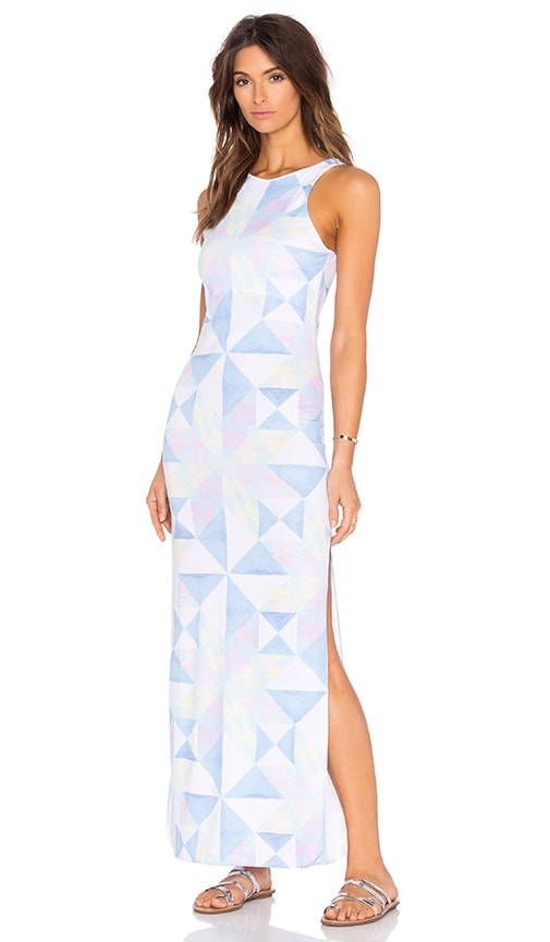 Mara Hoffman Column Dress in Blue