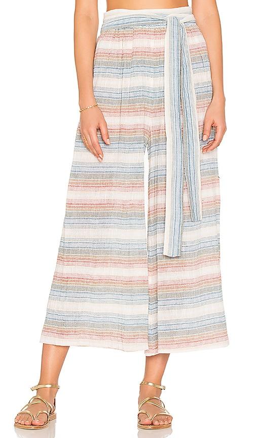 Mara Hoffman Tie Waist Culottes in Blue
