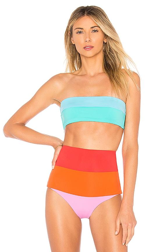 Mara Hoffman Abigail Bikini Top in Turquoise
