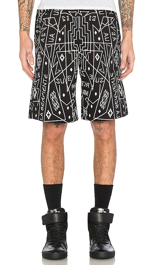 Marcelo Burlon Salomon Shorts in Black