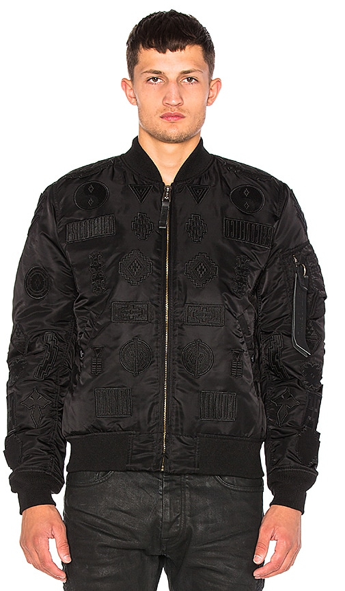 Marcelo Burlon Pissis Alpha MA-1 Jacket in Black