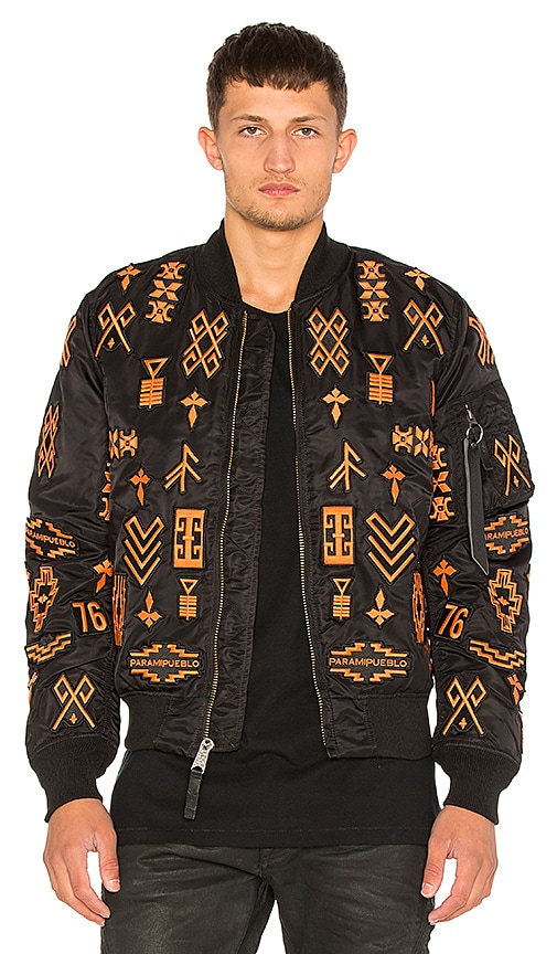 Marcelo Burlon Alpha MA-1 Jacket in Black
