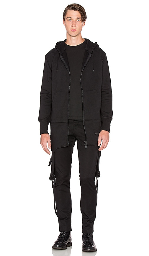 Marcelo Burlon Caig Hood Sweatshirt in Black
